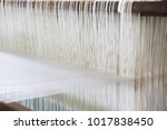 closed up of loom with white... | Shutterstock . vector #1017838450