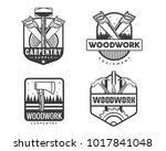 vintage monotone woodwork...   Shutterstock .eps vector #1017841048
