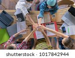 group of business people... | Shutterstock . vector #1017842944
