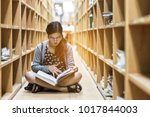 education a girl are sitting to ...   Shutterstock . vector #1017844003