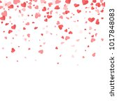small paper valentines day... | Shutterstock .eps vector #1017848083