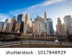 chicago skyline downtown | Shutterstock . vector #1017848929