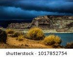 lone rock beach lake powell in... | Shutterstock . vector #1017852754