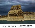 lone rock beach lake powell in... | Shutterstock . vector #1017852778