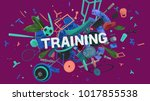 colorful attractive 3d rendered ... | Shutterstock . vector #1017855538