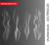 vector smoke set isolated on... | Shutterstock .eps vector #1017856120
