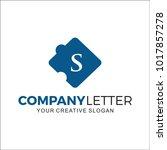 initial letter s design logo | Shutterstock .eps vector #1017857278