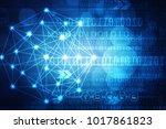 2d illustration technology... | Shutterstock . vector #1017861823