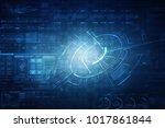 2d illustration technology...   Shutterstock . vector #1017861844
