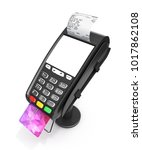 card payment terminal with an...   Shutterstock . vector #1017862108