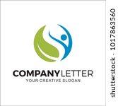 nature beauty design logo | Shutterstock .eps vector #1017863560