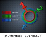abstract web design infographic | Shutterstock .eps vector #101786674