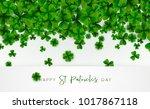 happy saint patrick's day... | Shutterstock .eps vector #1017867118