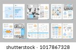 brochure creative design.... | Shutterstock .eps vector #1017867328