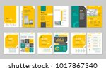 brochure creative design.... | Shutterstock .eps vector #1017867340