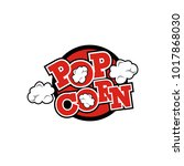 popcorn logo vector | Shutterstock .eps vector #1017868030