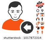 previous user icon with bonus... | Shutterstock .eps vector #1017872314