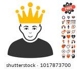 moderator pictograph with bonus ... | Shutterstock .eps vector #1017873700