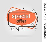 special offer sale geometric... | Shutterstock .eps vector #1017875590