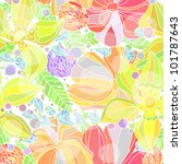 seamless pattern with summer... | Shutterstock .eps vector #101787643