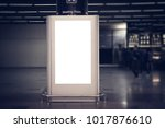 indoor advertising billboards. | Shutterstock . vector #1017876610