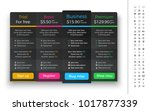 ark pricing table with 4 plans... | Shutterstock .eps vector #1017877339
