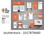corporate identity template set ... | Shutterstock .eps vector #1017878680