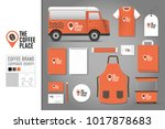 corporate identity template set ... | Shutterstock .eps vector #1017878683