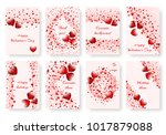 set of bright backgrounds with... | Shutterstock .eps vector #1017879088