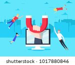 attracting online customers.... | Shutterstock .eps vector #1017880846