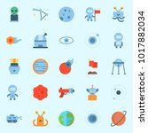 icons about universe with... | Shutterstock .eps vector #1017882034