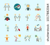 icons about human with walker ... | Shutterstock .eps vector #1017882064