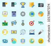 icons about digital marketing... | Shutterstock .eps vector #1017887374