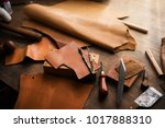leather craft or leather... | Shutterstock . vector #1017888310