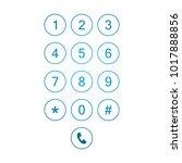 keyboard smartphone number | Shutterstock .eps vector #1017888856
