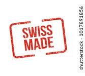 made in swiss. vector flag...   Shutterstock .eps vector #1017891856