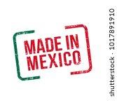made in mexico. vector flag... | Shutterstock .eps vector #1017891910