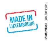 made in luxembourg. vector flag ... | Shutterstock .eps vector #1017891934