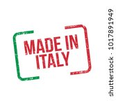 made in italy. vector flag... | Shutterstock .eps vector #1017891949
