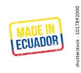 made in ecuador. vector flag... | Shutterstock .eps vector #1017892000