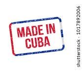 made in cuba. vector flag... | Shutterstock .eps vector #1017892006