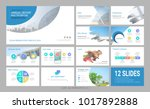 presentation template with... | Shutterstock .eps vector #1017892888