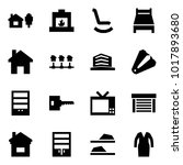 origami style icon set   home...