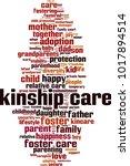 kinship care word cloud concept.... | Shutterstock .eps vector #1017894514
