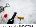 wine set on white background... | Shutterstock . vector #1017897184