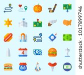 icons about united states with... | Shutterstock .eps vector #1017899746