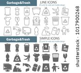 garbage and trash line and...   Shutterstock .eps vector #1017900268