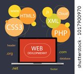 web development codding | Shutterstock .eps vector #1017900970