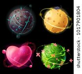 Vector Cartoon Worlds Planetar...
