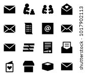 origami style icon set   mail...   Shutterstock .eps vector #1017902113